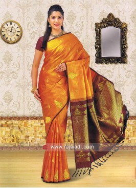 Kancheepuram Silk Saree with Blouse