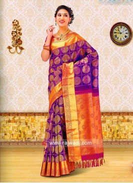 Kancheepuram Silk Saree with Border