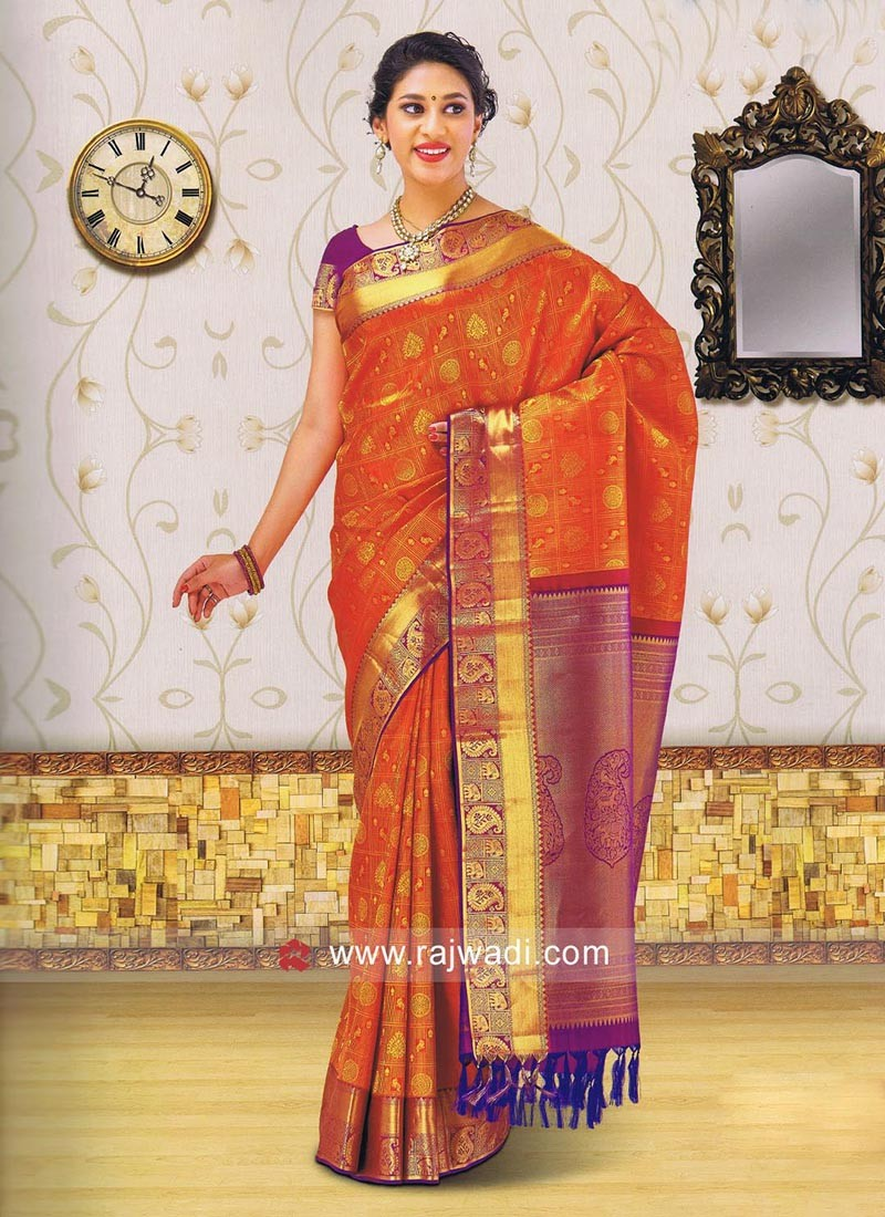 Kancheepuram Silk Weaved Saree