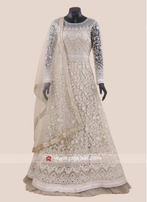 Karachi Work Floor Length Anarkali Suit