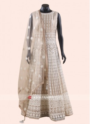 Karachi Work Heavy Anarkali Dress