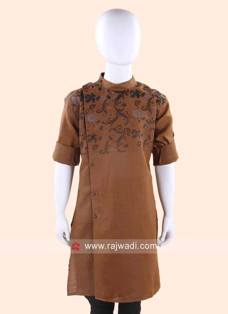 Brown Color Kurta For Party