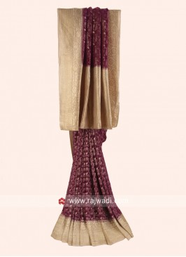 Khadi Chiffon Woven Saree