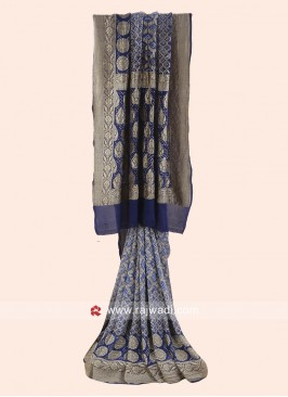 Khadi Chiffon Woven Shaded Saree