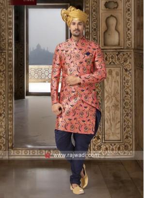 Pink Color Indo Western For Wedding