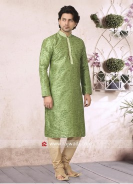 Liril Green Art Silk Fabric Kurta Pajama