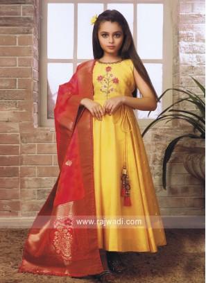 Kids Anarkali Salwar Kameez in Yellow