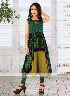 Kids Cotton Silk Salwar Suit