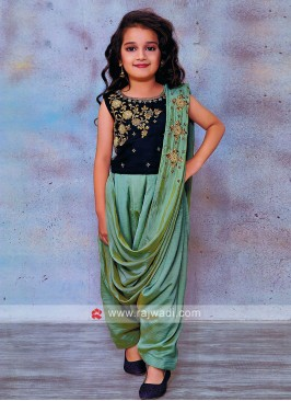 Kids Dhoti Style Suit with Dupatta