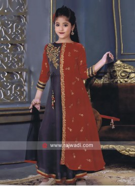 Kids Embroidered Salwar Kameez