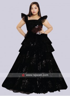 Kids Floor Length Wedding Gown