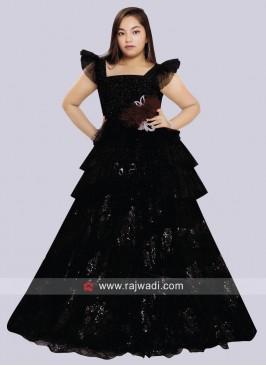 Kids Floor Length Wedding Gown