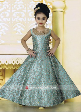 Kids Heavy Embroidery Anarkali Suit