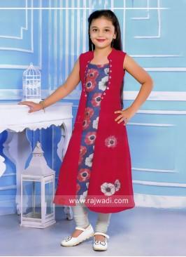 Kids Jacket Style Salwar Kameez