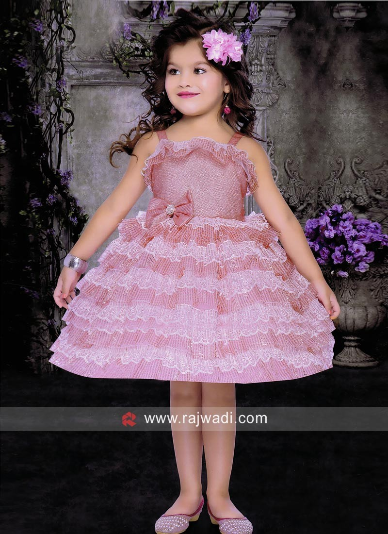 Kids Multilayer Party Wear Dress