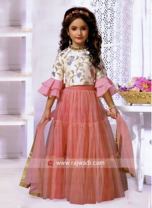 Kids Silk Choli Suit with Dupatta
