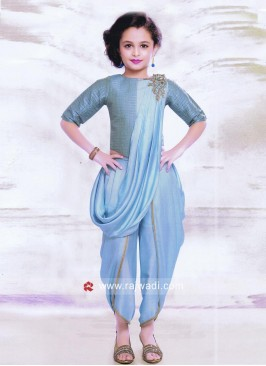 Kids Stylish Dhoti Suit with Attached Dupatta