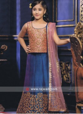 Kids Tikki Work Choli Suit