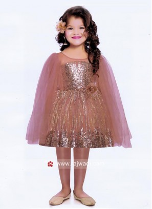 Kids Tikki Work Party Frock with Long Slit Sleeves