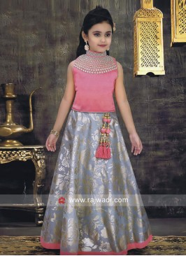 Kids Wedding Chiffon Choli Suit
