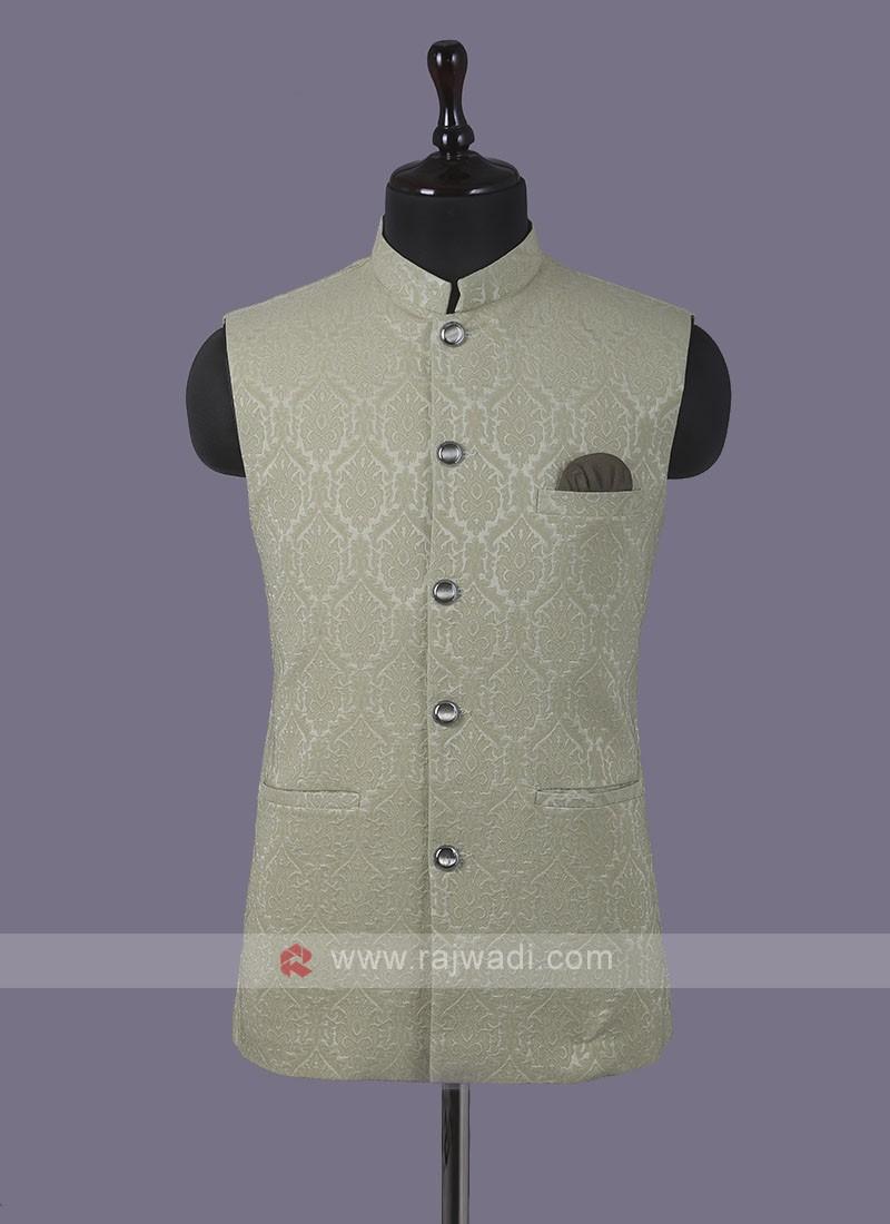 Beautiful Printed Nehru Jacket