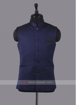 Art Silk Dark Blue Koti