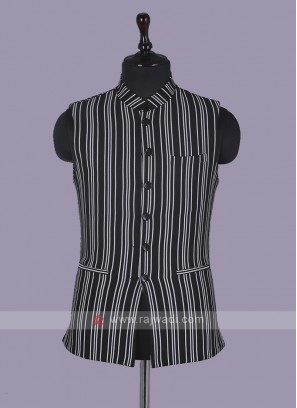 Striped Black Koti