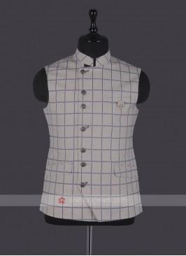 Mix Blend Checks Nehru Jacket