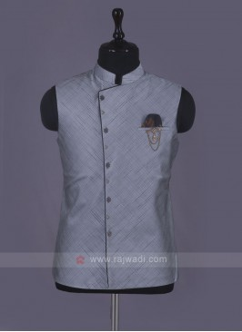 Stylish Wedding Wear Nehru Jacket