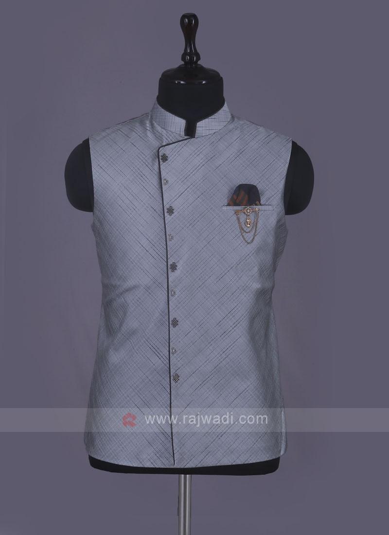 Stylish Wedding Wear Nehru Jacket