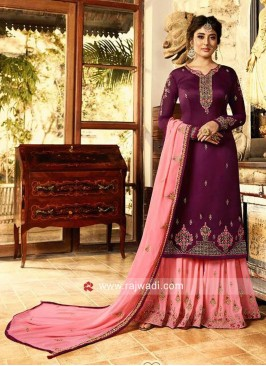 Kritika Kamra Embroidered Wedding Gharara Suit