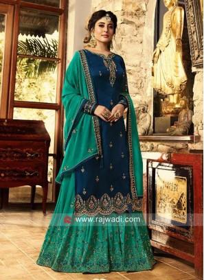 Kritika Kamra Gorgeous Satin Gharara Suit