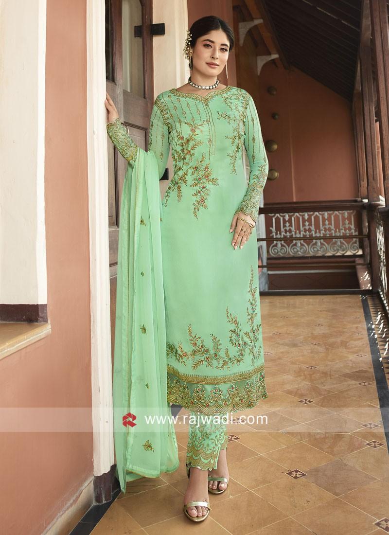 Kritika Kamra in Classic Light Green Trouser Suit