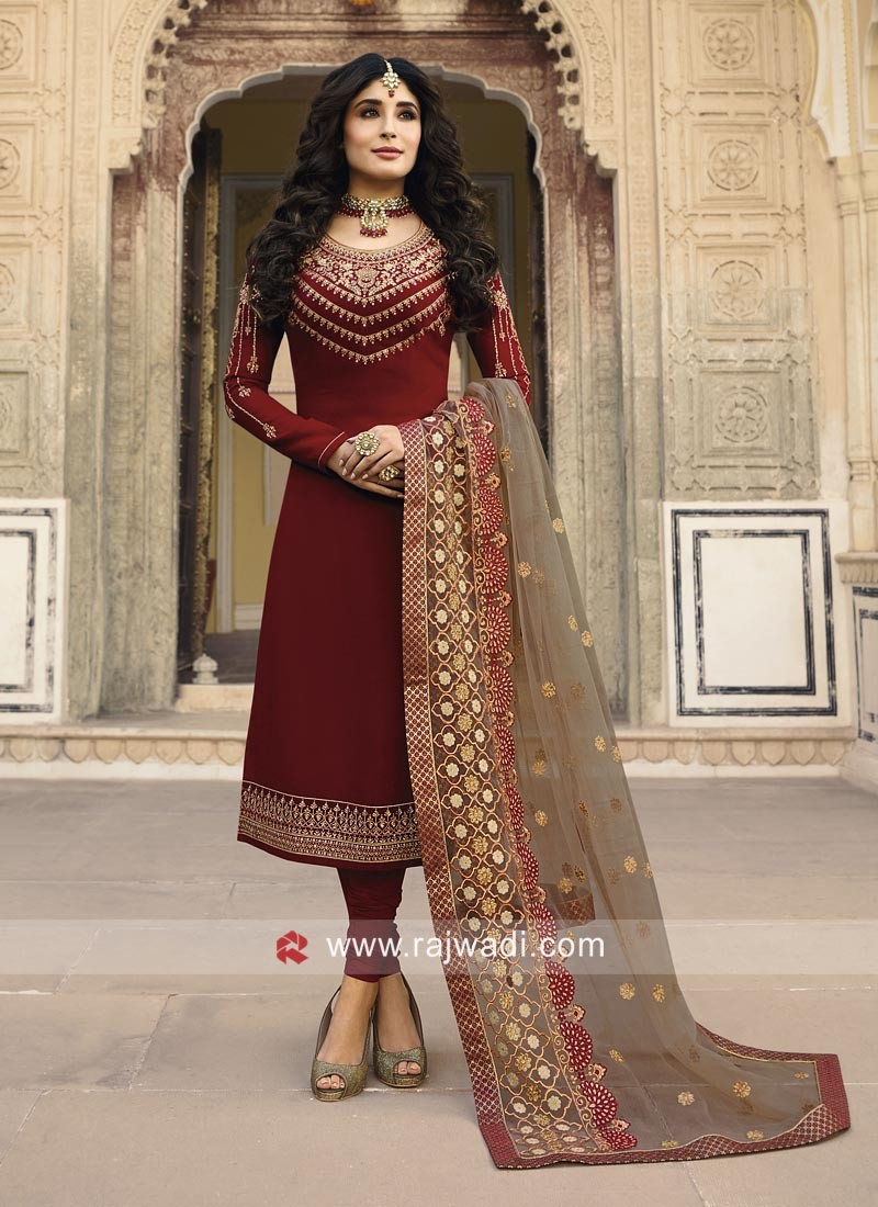 Kritika Kamra Net Churidar Suits