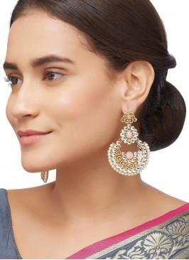 Kundan Chandbali Earring Set