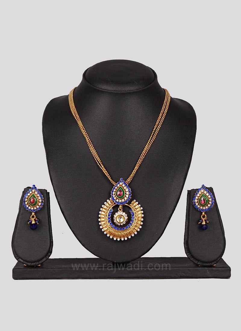 Kundan Necklace Set with Matching Earrings