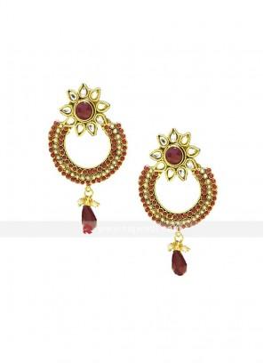 Kundan Pearl Drop Earrings