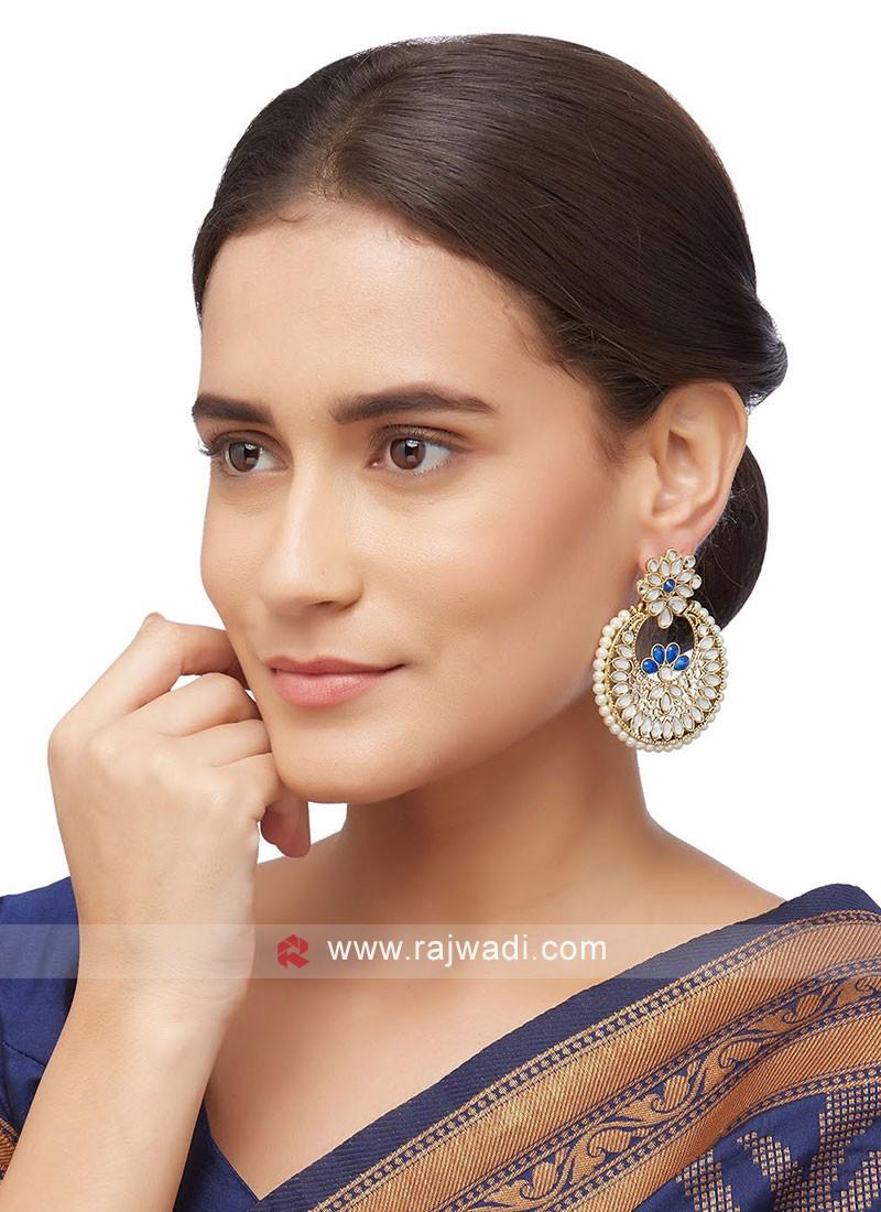 Kundan Work Chanbali Earrings
