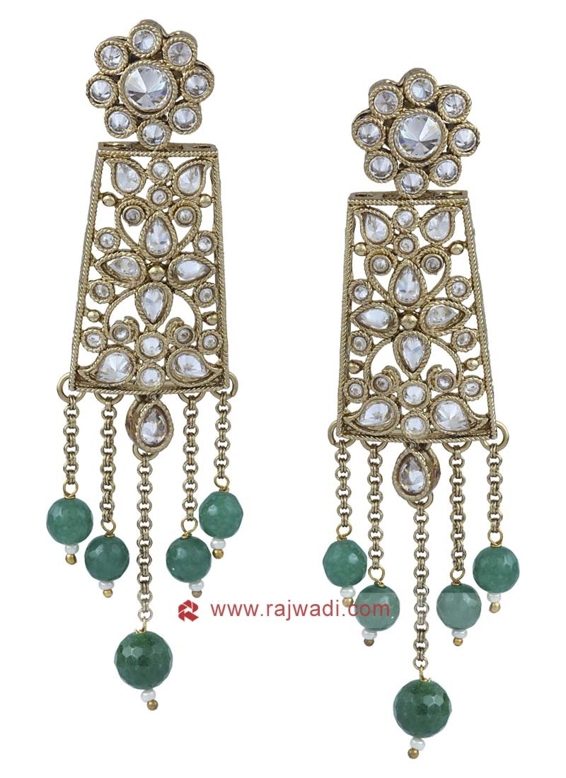 Kundan Work Dangler Earrings