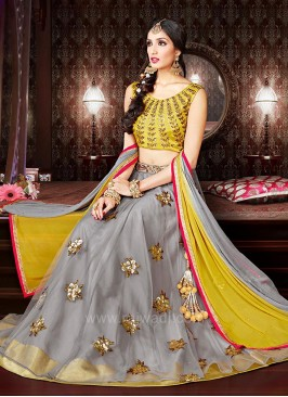 Bridal Flower Work Lehenga Choli
