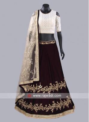 Kundan Work Readymade Choli Suit
