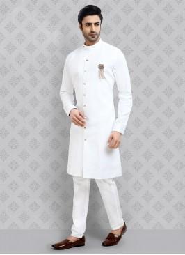Kurta Pajama In White Color