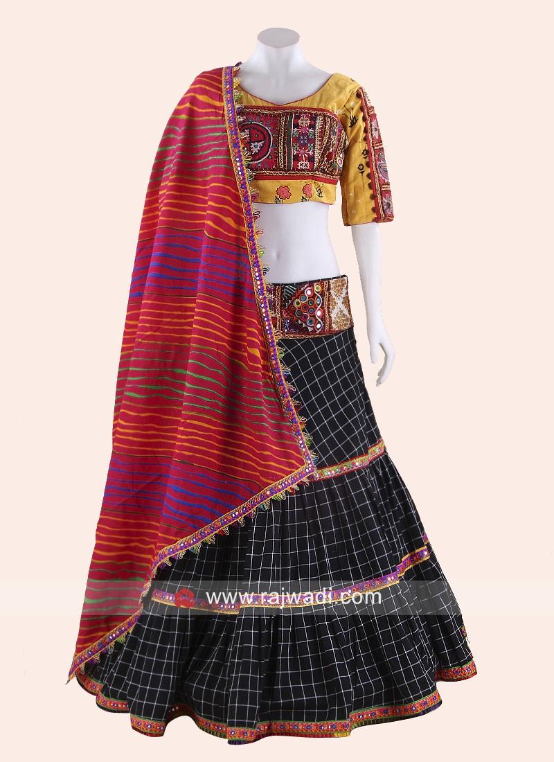 Kutchi Work Stitched Chaniya Choli for Garba