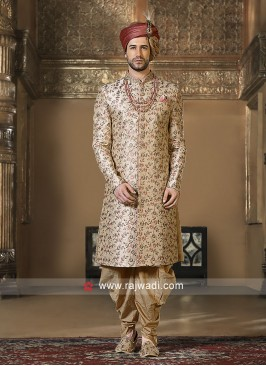 Attractive Cream Color Sherwani