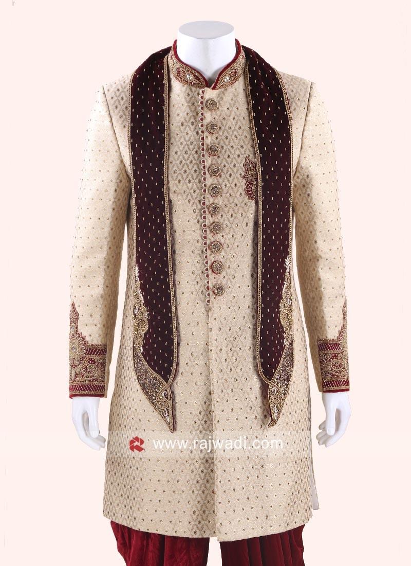 Latest Maroon Dupatta For Wedding