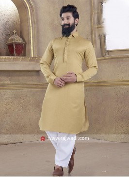 Stylish Pathani Suit with Fancy Button