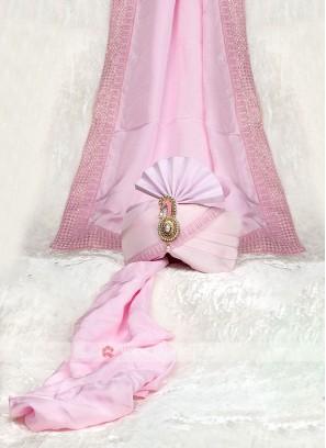 Lavender Color Turban And Dupatta