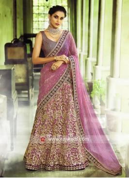Lavender Designer Lehenga Choli