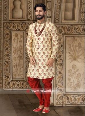 Charming Golden Yellow Indo Western
