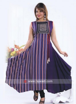 Layered Cotton Rayon Kurti